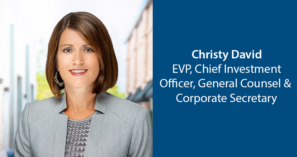 InvenTrust Promotes Christy David to chief investment officer